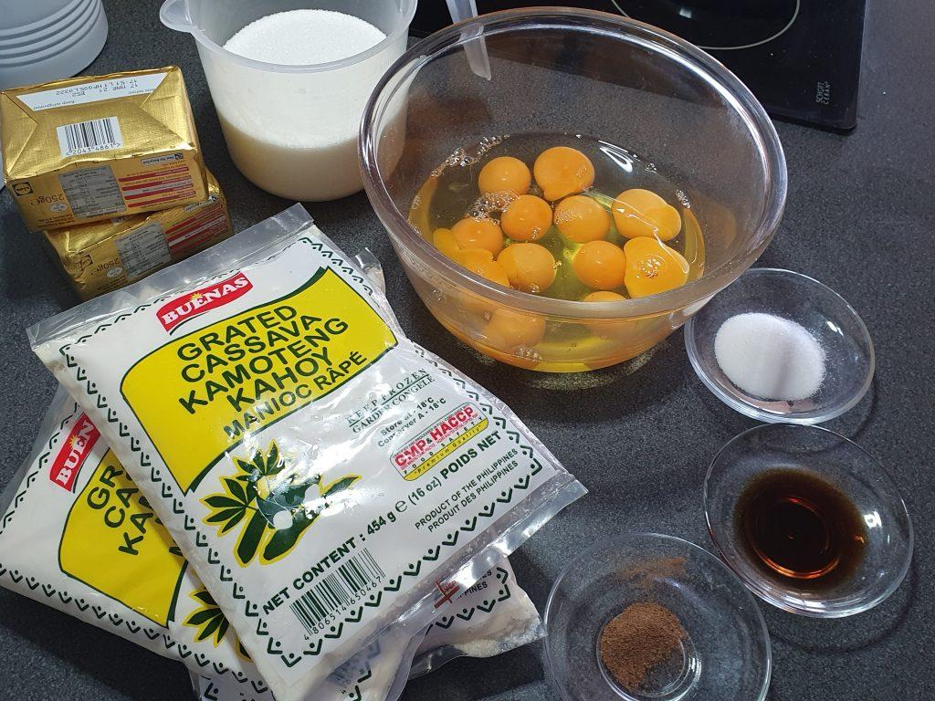 ingredients used for cassava pie
