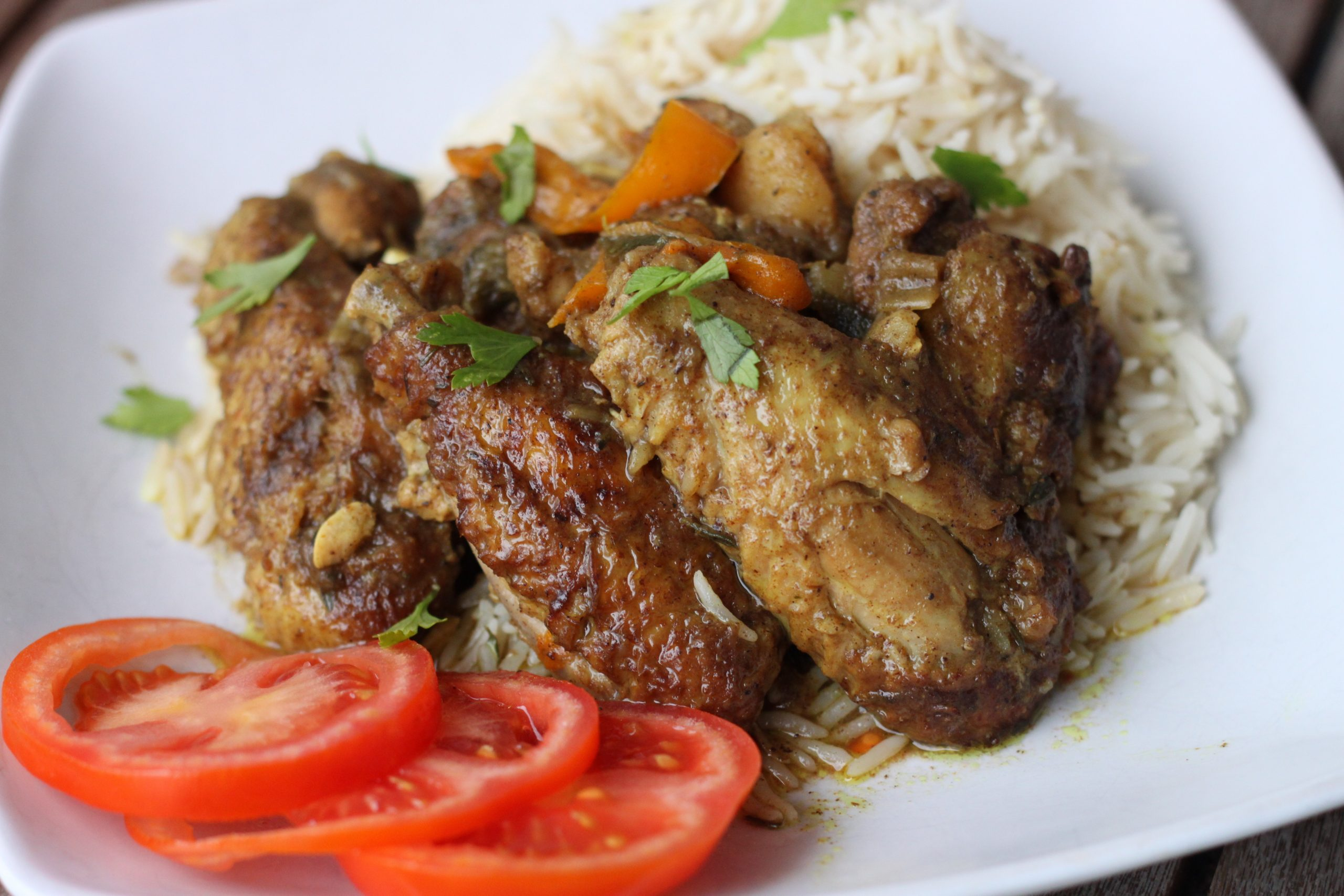 Curry Chicken wings for a Quick Caribbean Meal