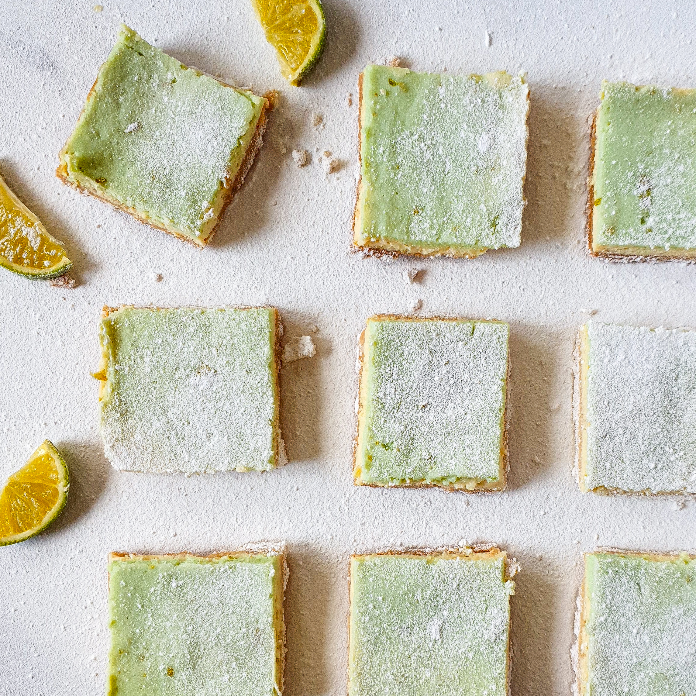 Irresistible Key lime Cheesecake bars inspired by A Petite Mama