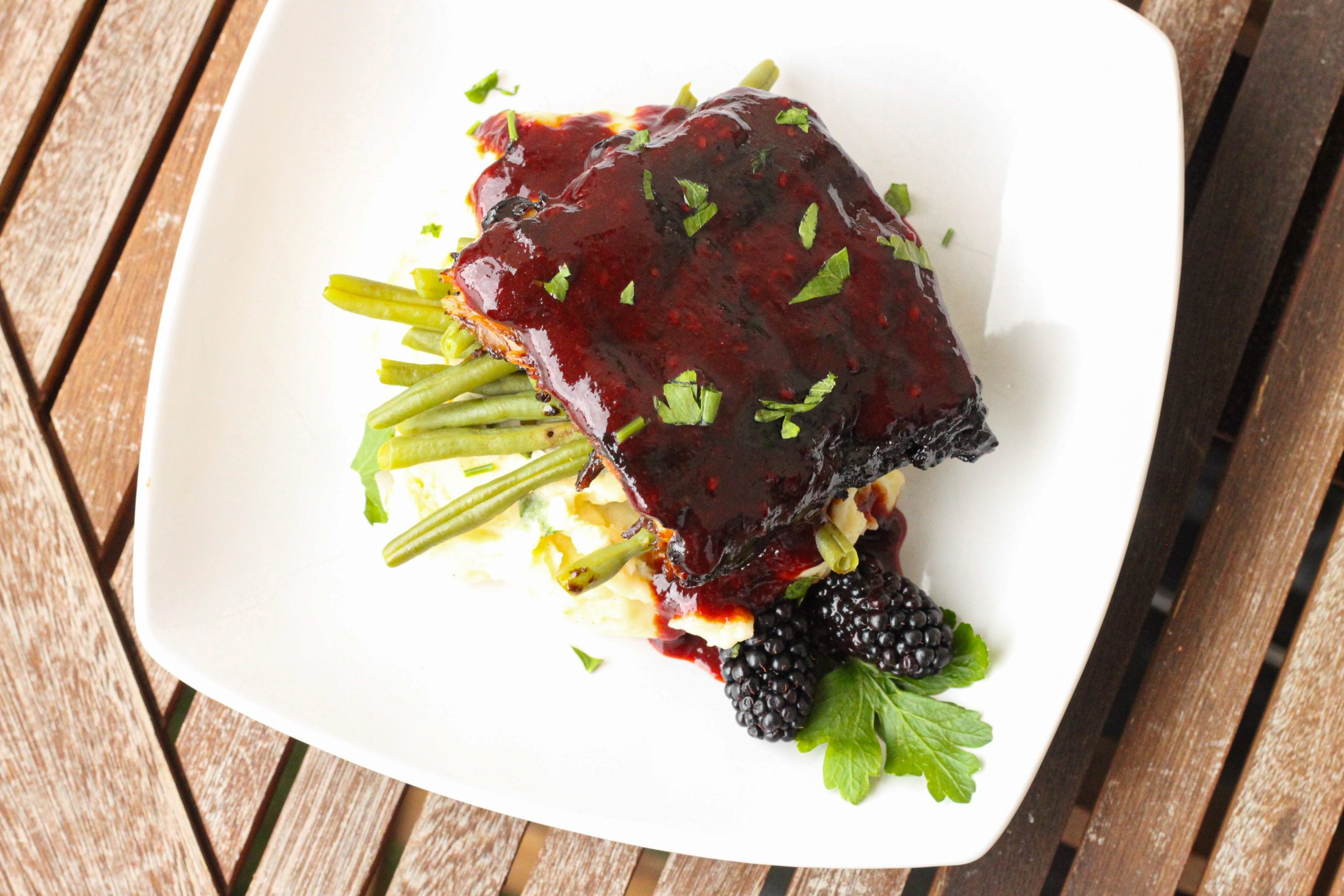 Blackberry Hoisin Ribs
