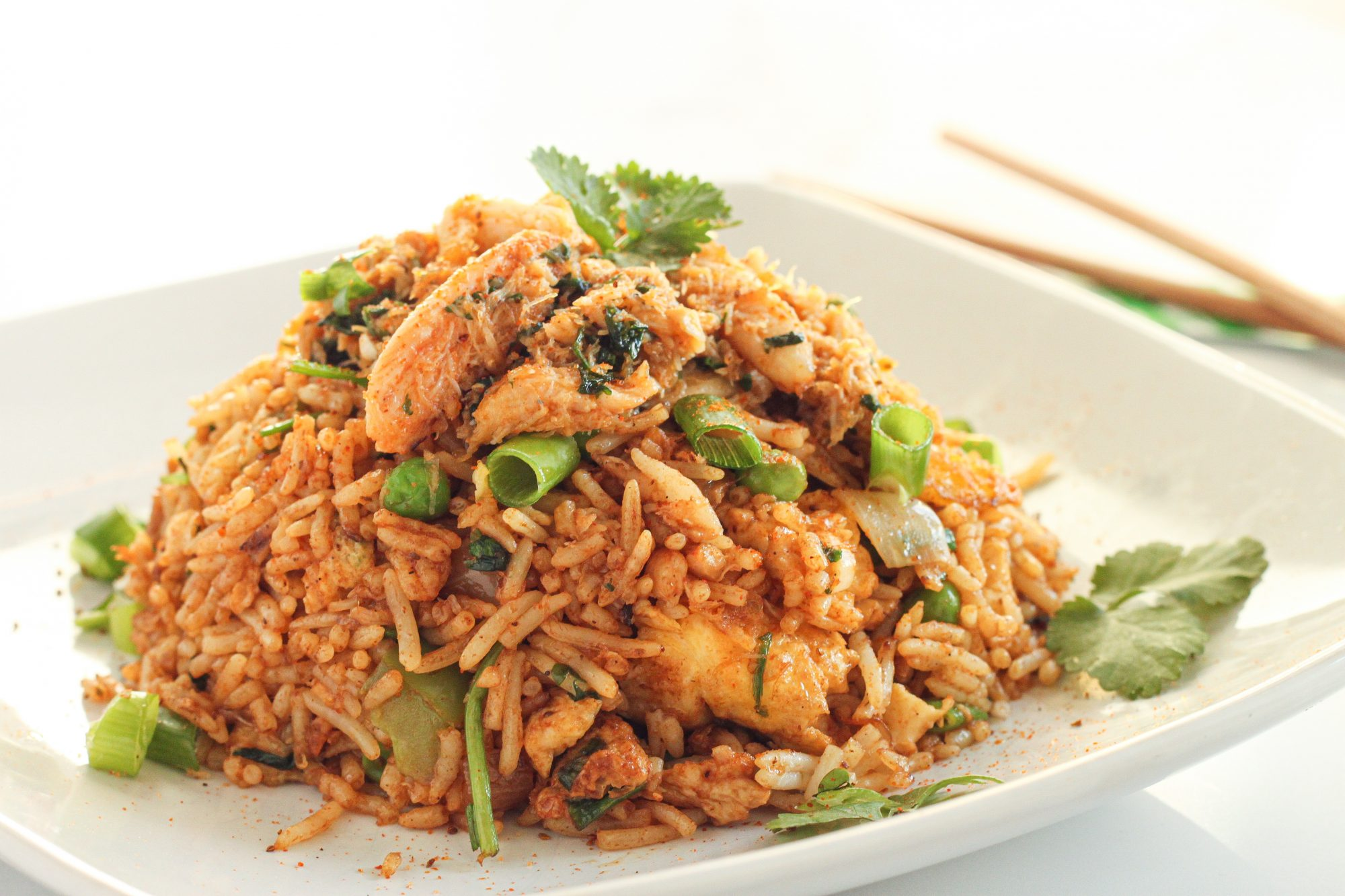 crab fried rice using real crab meat