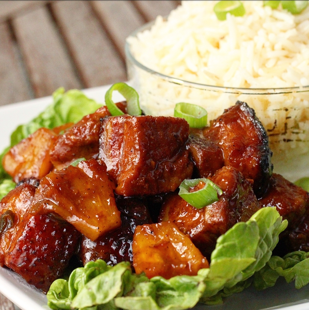 Pineapple Ginger Pork belly Bites