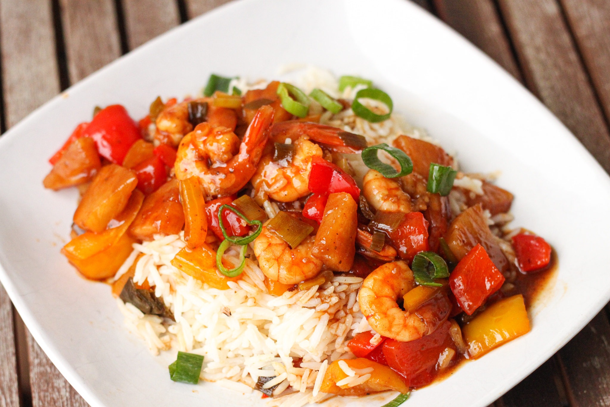 Spicy Pineapple Shrimp: Your family will love