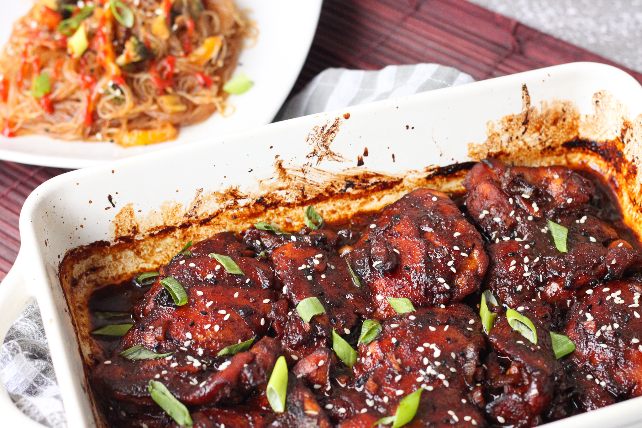 The Most Incredibly Tender Baked Teriyaki Orange Chicken Thighs