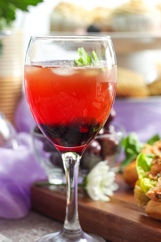 Sage & Mint Iced tea with Blackberry Syrup