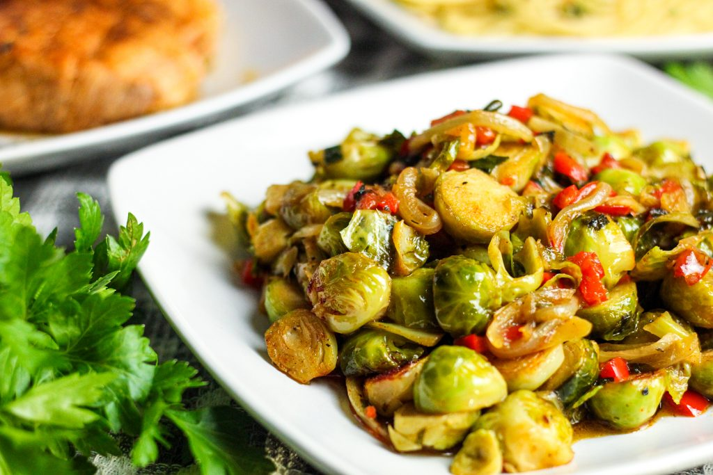 Lemon Pepper Brussels Sprouts