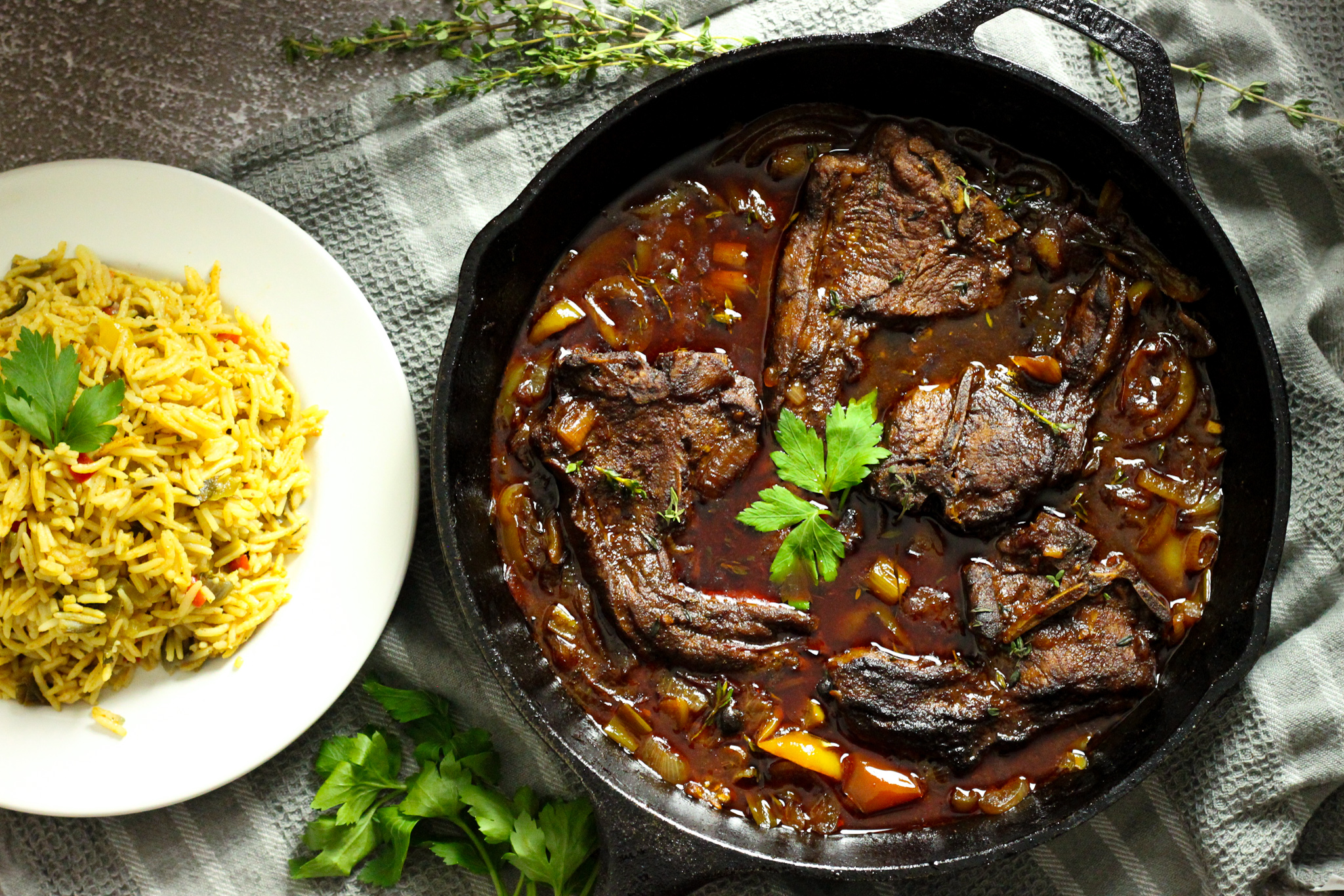 How to Stew Lamb Chops the Caribbean way