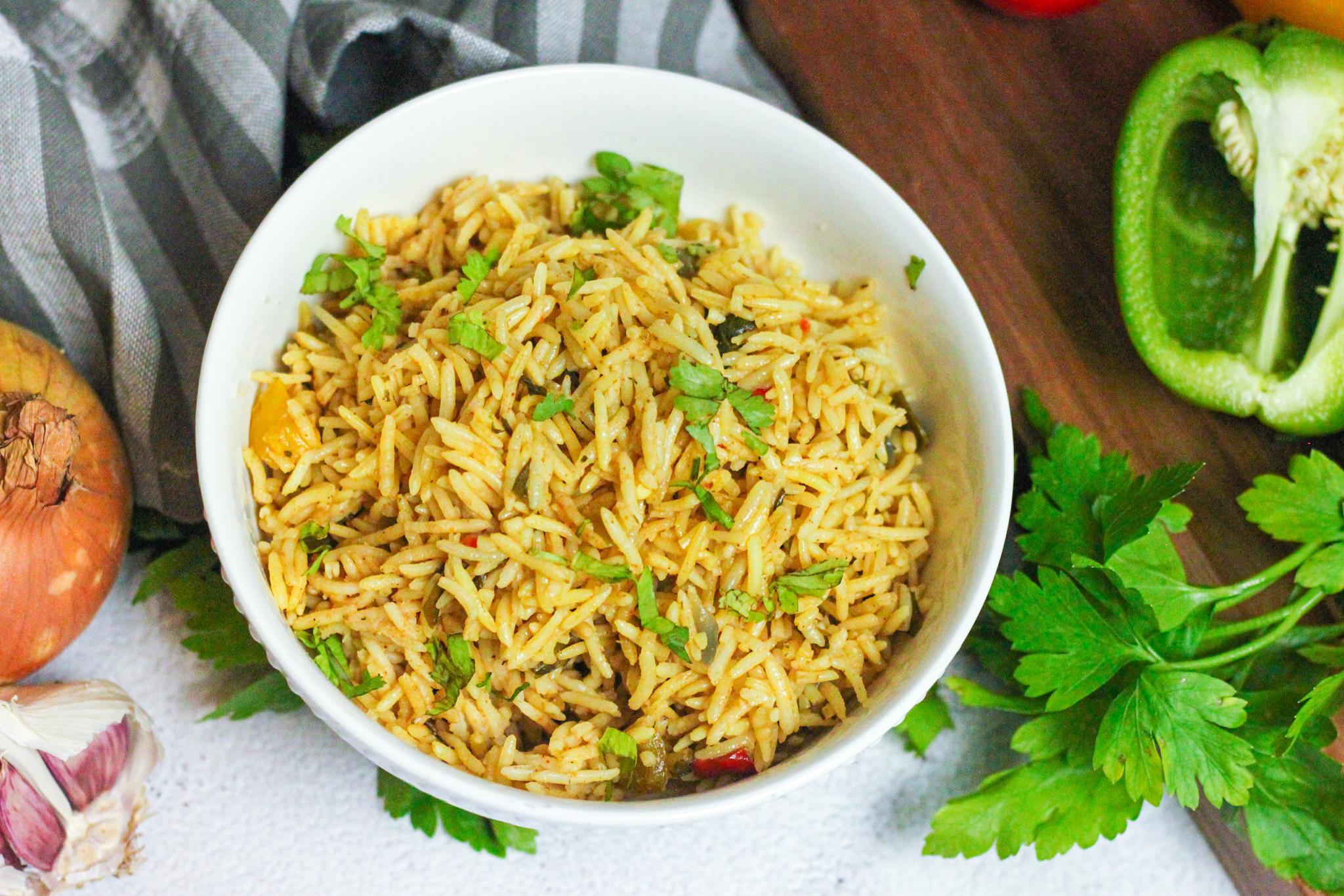 The Most Amazing Seasoned Yellow Rice