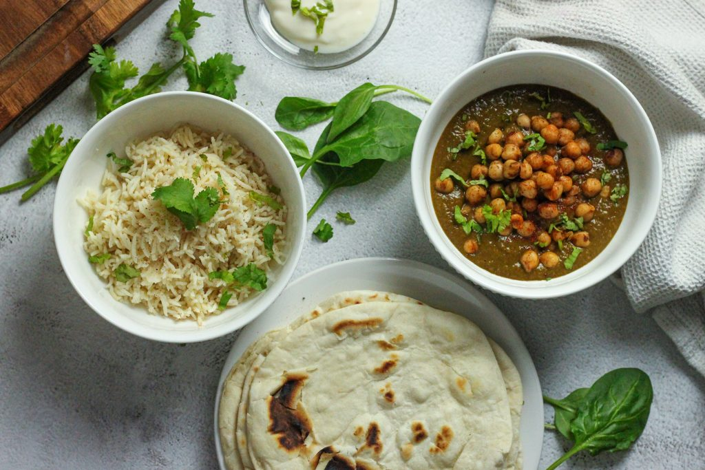 Spinach Chickpea curry Palak Chana