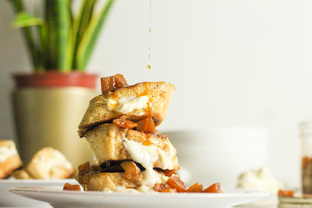 Stuffed French Toast with Apple Compote