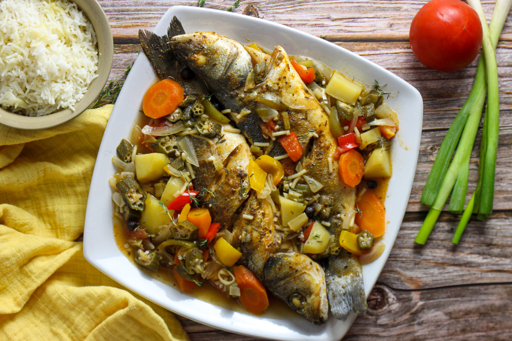 Healthy and Hearty One Pot Meals: Steamed Fish with Okra