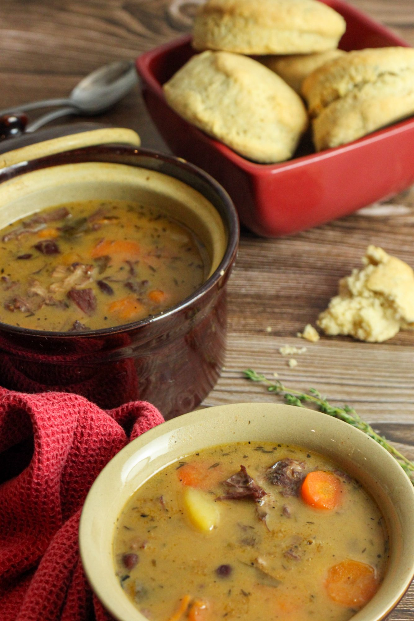 Turkey and Red Peas Soup