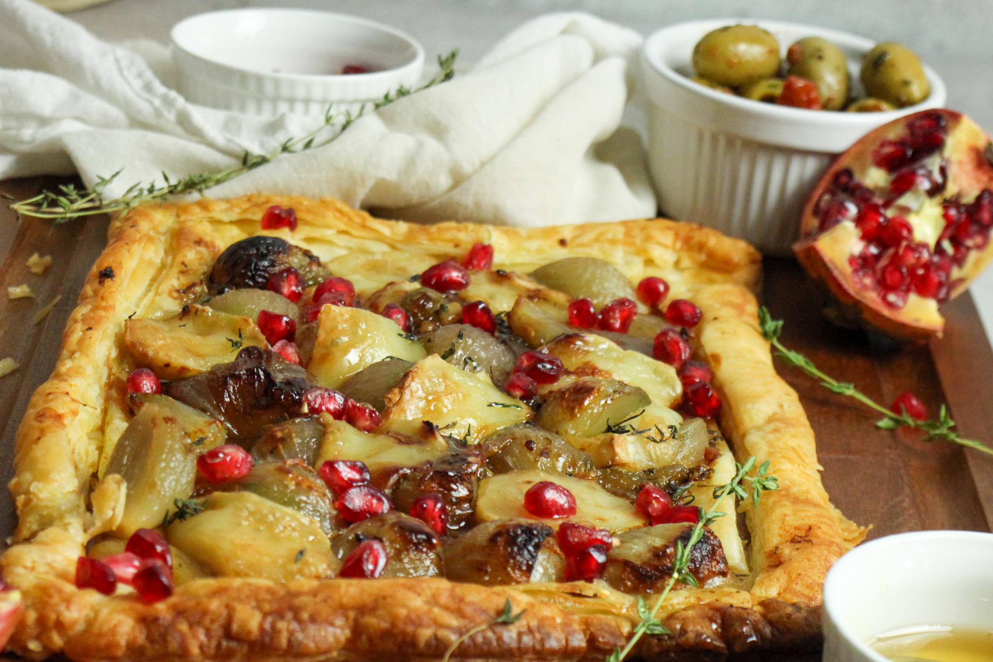 Holiday Appetizer Shallot and Goats cheese tart
