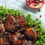 Baked Chicken with Orange Pomegranate glaze