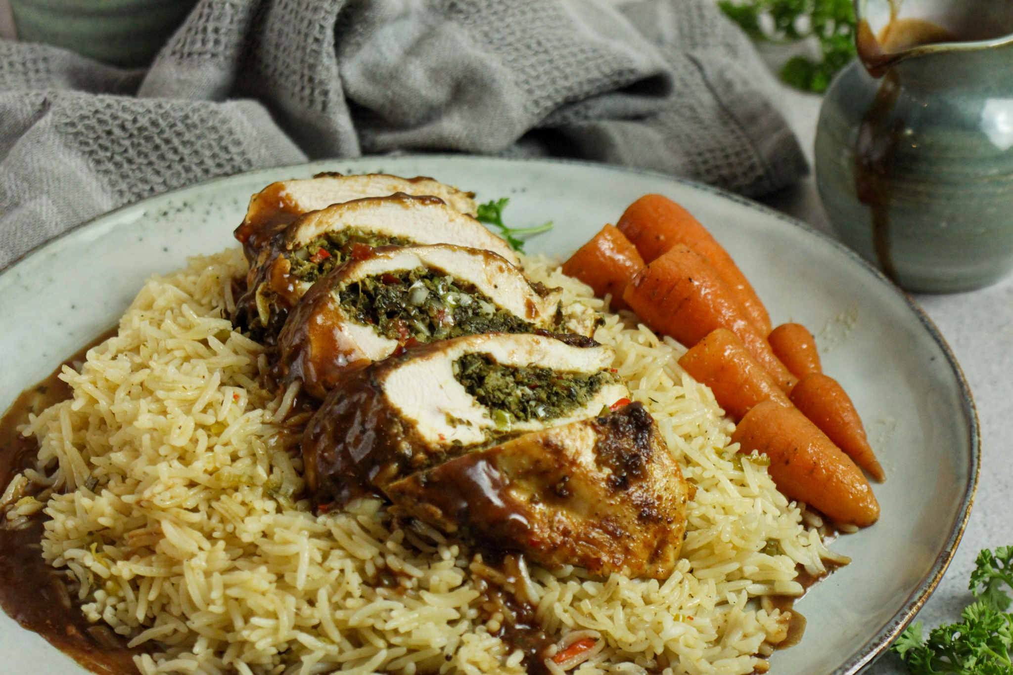 How to Make Stuffed Chicken Breasts with Callaloo