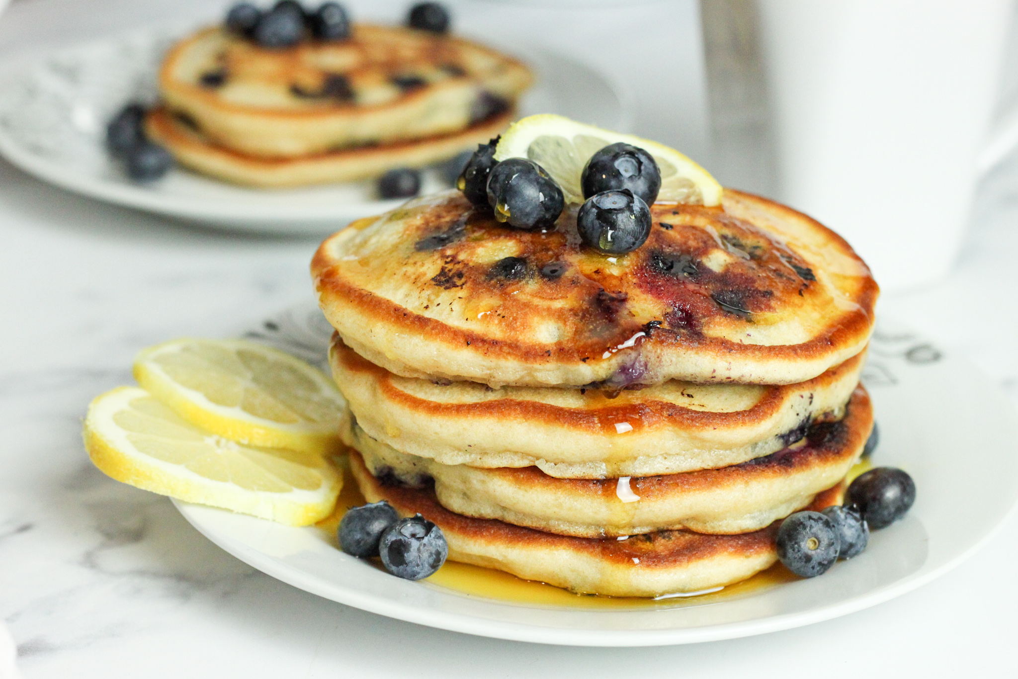 How to Make Lemon Blueberry Pancakes