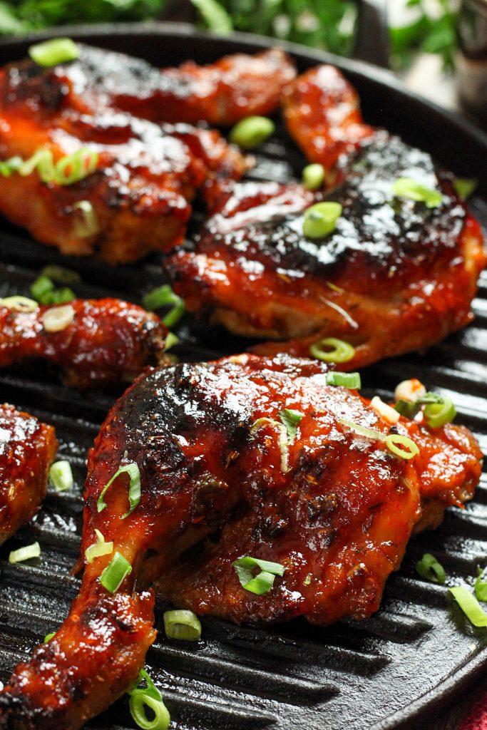 Maple Sriracha Chicken Legs