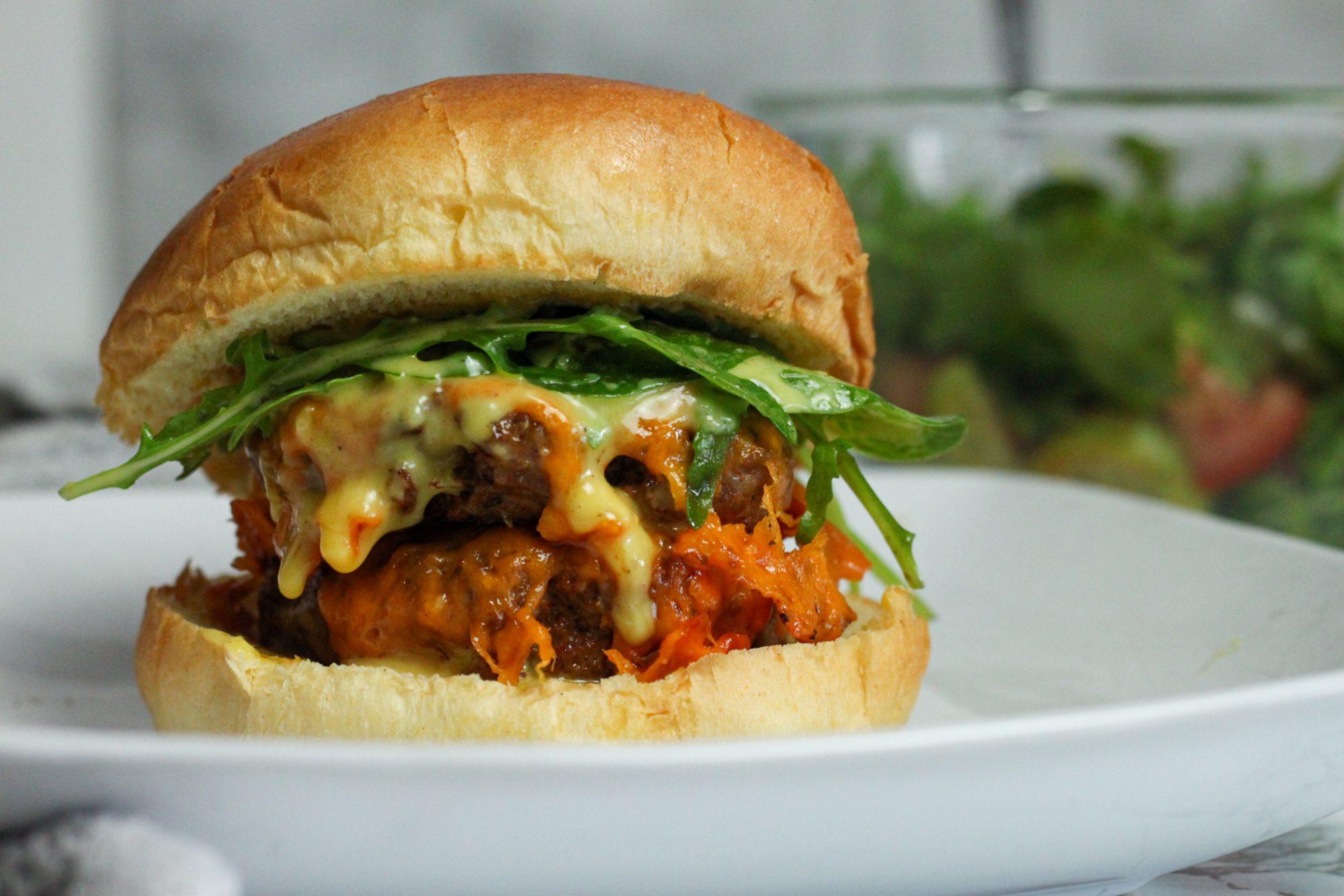 Super Juicy spiced Turkey Burger
