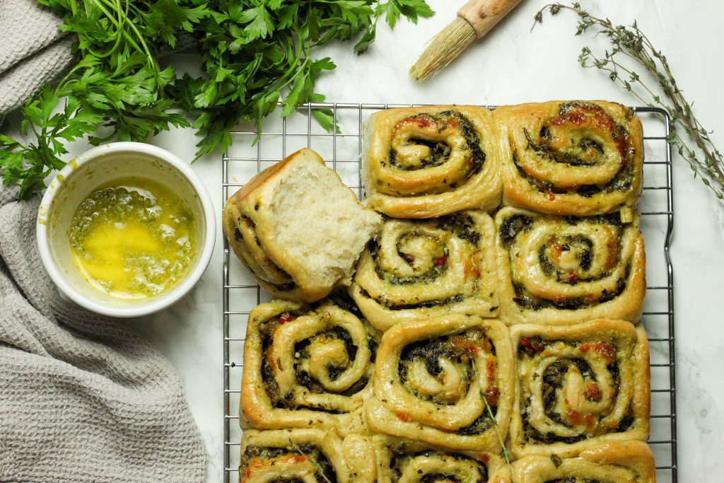 Callalou Thyme and Cheddar Rolls